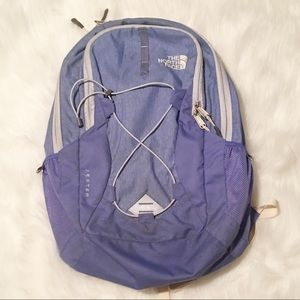 The North Face periwinkle blue/purple backpack